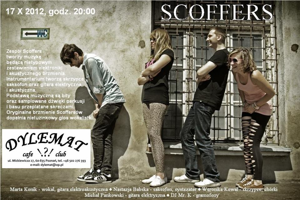 Koncert Scoffers w Dylemat Cafe-Club
